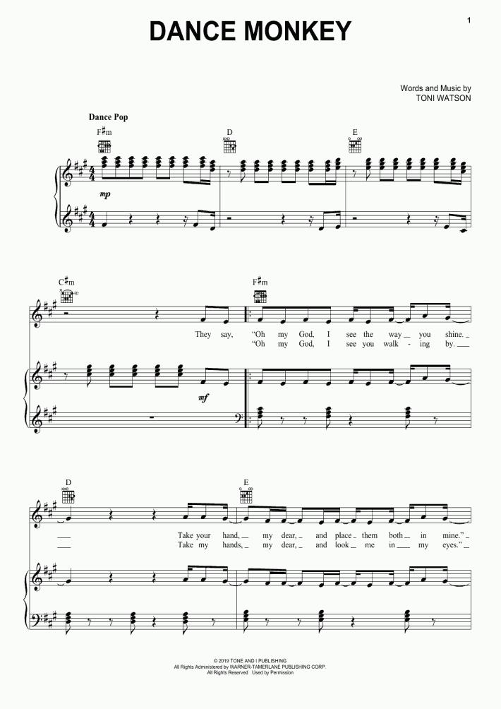 Dance Monkey Piano Sheet Music Onlinepianist In 2020 Piano Sheet Music Letters Violin Sheet Music Piano Sheet Music Free