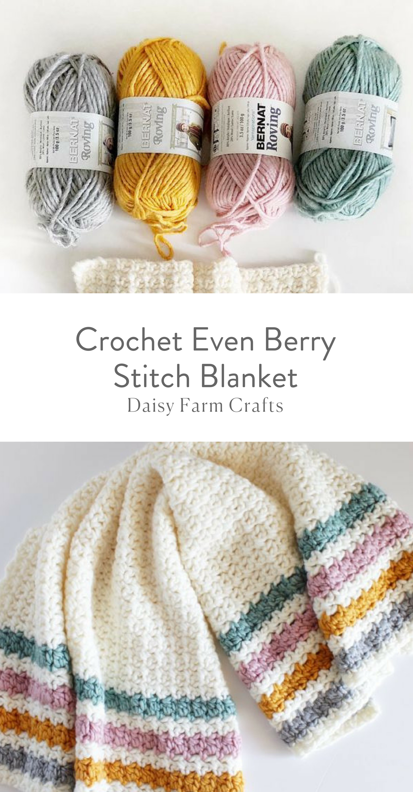 Free Pattern - Crochet Even Berry Stitch Blanket | Knitting and ...