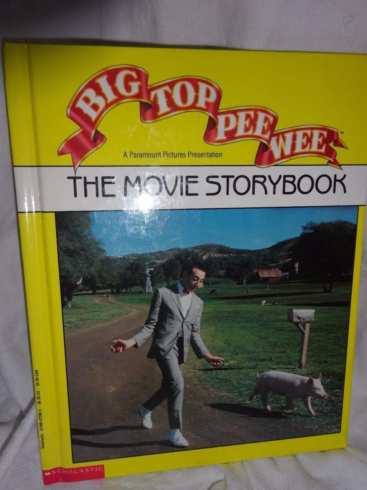 Big Top Pee Wee The Movie Storybook Pee Wee Herman Picture Book HC 1988 | eBay