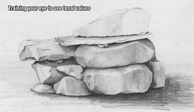Lets Draw Pencil Drawing Course Drawing Rocks Charcoal Drawing Drawing Course