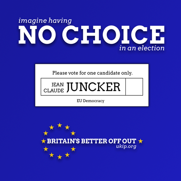 Imagine having no choice in an election. Democracy - EU style pic.twitter.com/jggKbvI2CM