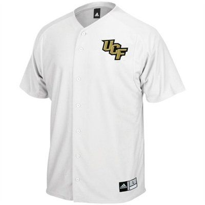 huge discount 4cf1f 120f0 UCF Baseball Jersey - Adidas - White with UCF logo on front ...