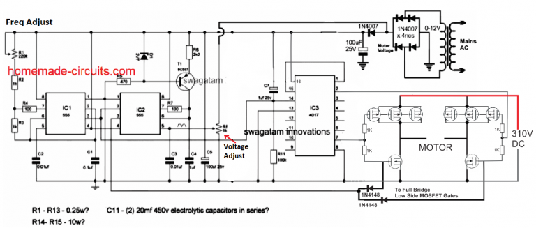 Single Phase Variable Frequency Drive Vfd Circuit Homemade Circuit Projects Ac Circuit Circuit Projects Electrical Installation