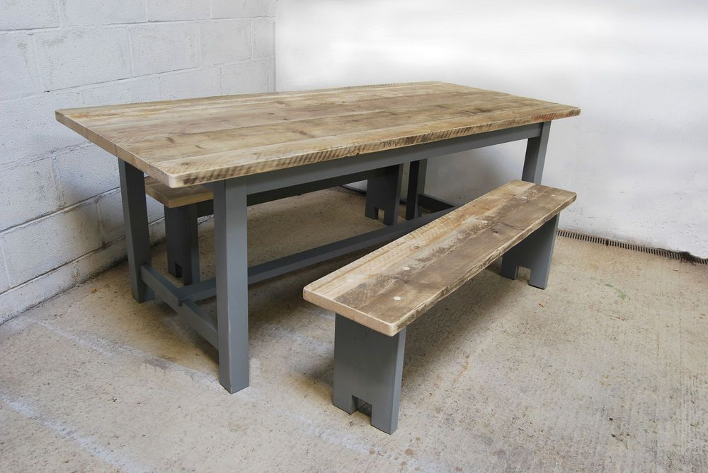 7ft dining kitchen table reclaimed farmhouse vintage