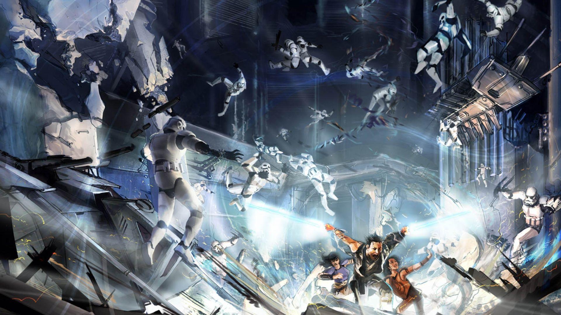 Star Wars Battle Backgrounds: Star-wars-battlefront-scifi-battle-wallpaper-star-wars