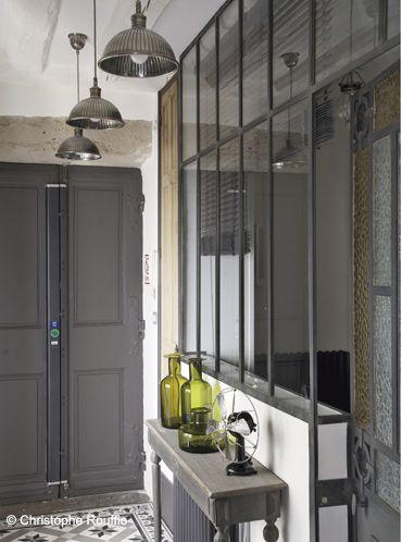 Entrée avec couloir et verrière Idées pour la maison Pinterest
