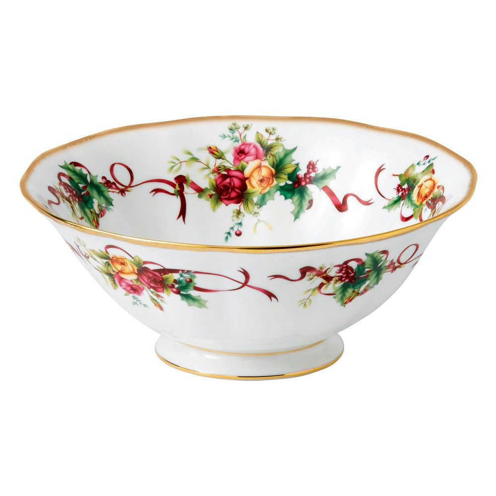 royal doulton old country rose | Royal Albert Old Country Roses Christmas Tree Serving Bowl 24cm