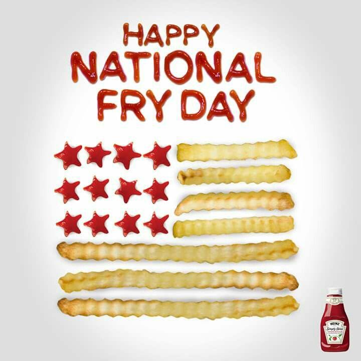 Happy fry day cute food heinz ketchup fries