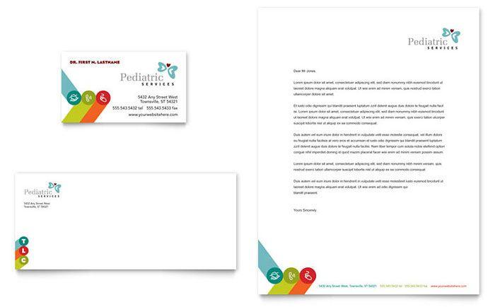 Pediatrician & Child Care - Business Card & Letterhead Template Design