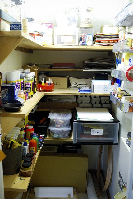 Sew Liberated's Art cupboard. With  great list of stuff to use! Fantastic.