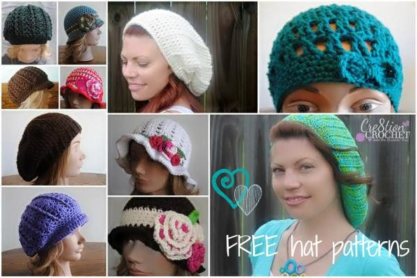FREE Womens Hat Patterns | Mützen Beanies Stirnband | Pinterest ...