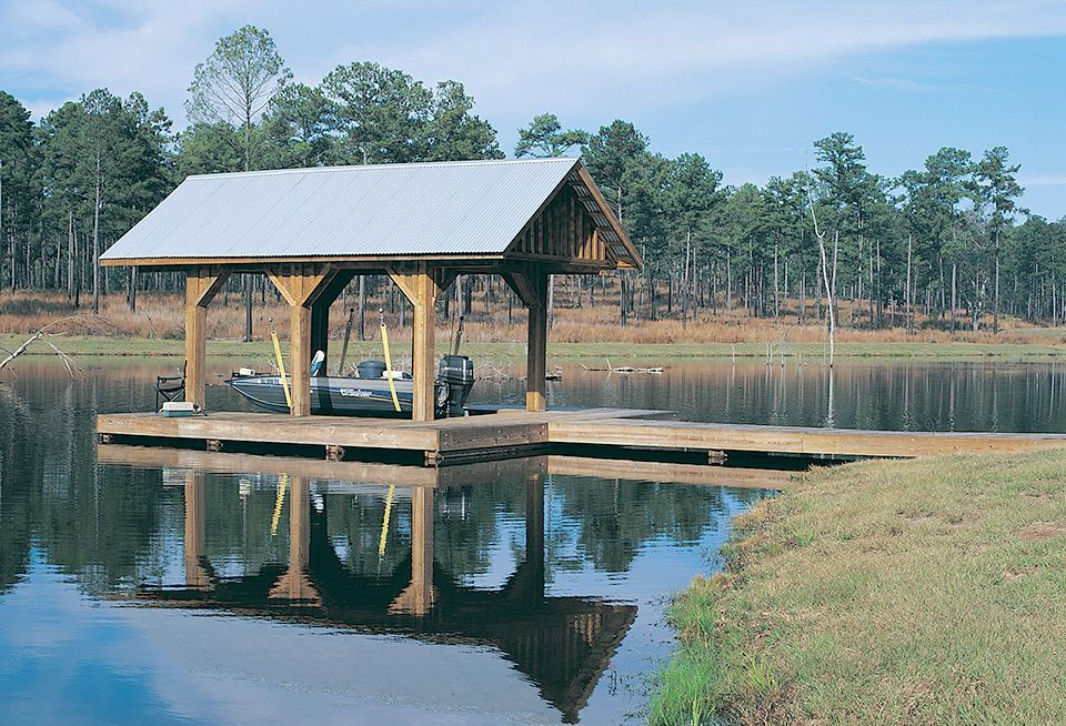minimalist boat dock ideas has wooden column and sloping roof top outstanding awesome boat dock design ideas misscelanous - Boat Dock Design Ideas