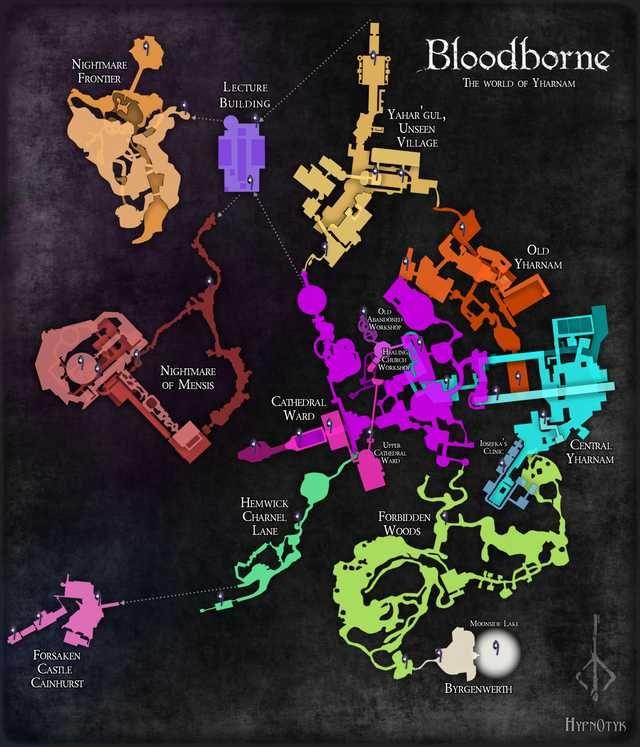 Complete Maps of Bloodborne | DarkSouls BloodBorne