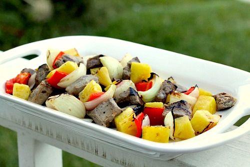Tropical Pork and Pineapple Kebabs: Karen's Kitchen Stories