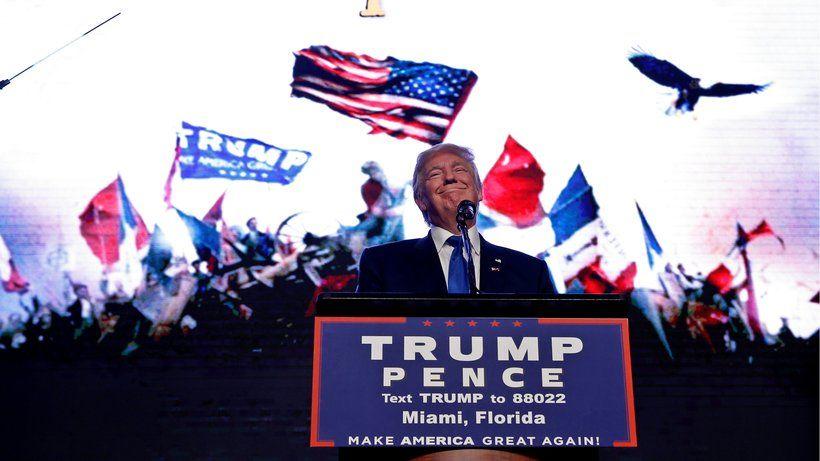 US-Wahl : Trump deutet erneut Gewalt gegen Hillary Clinton an In einer Rede fordert Trump, Clintons Secret-Service-Agenten die Waffen wegzunehmen. Dann solle man sehen, was mit der Präsidentschaftskandidatin passiere.