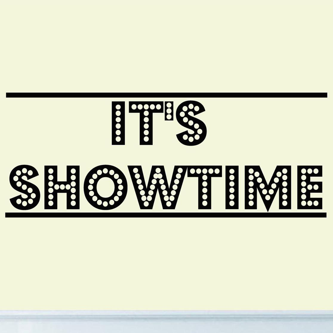 Its Showtime Vinyl Wall Decal Decor Home Theater Drama