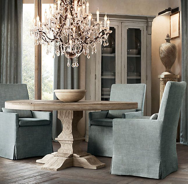 RHu0027s Dumont Round Dining Table:Drawing Inspiration From 18th Century  Europe, Ouru2026