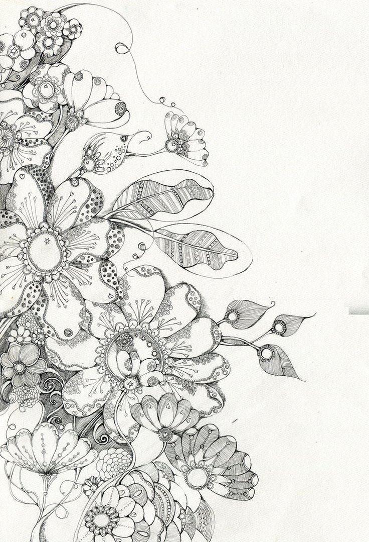 ausmalbilder kostenlos  blumen in einer vase sowie tonnen