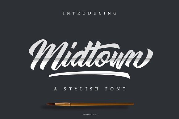 Midtown font fonts typography and banner design inspiration