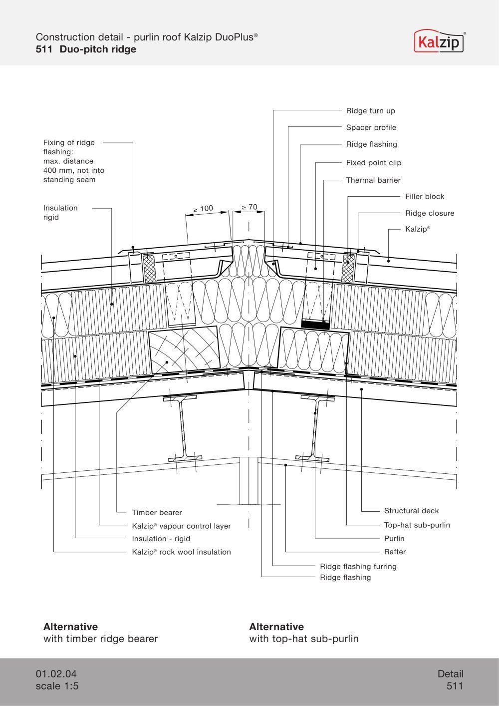 Kalzip Construction Details Standing Seam Aluminum Roof