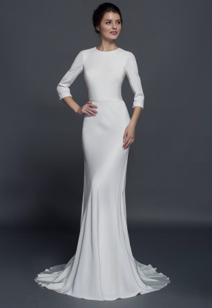 Modest Long Sleeve Wedding Dresses Are Available Find Elegant Silk Gowns With Sleeves