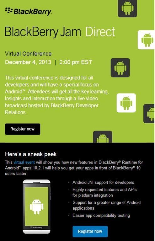 Next BlackBerry Jam Direct Virtual Conference Will Focus