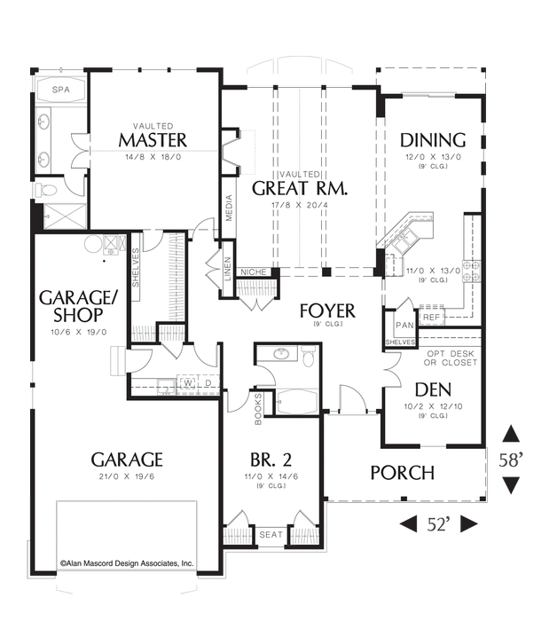 House plan 1150 the lindley add a bonus for Garage plans with bonus room