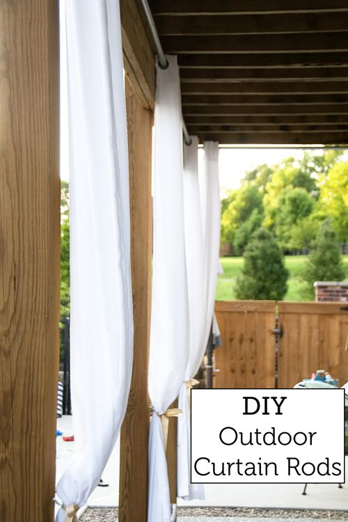 How To Hang Outdoor Curtains Diy Outdoor Curtain Rods The