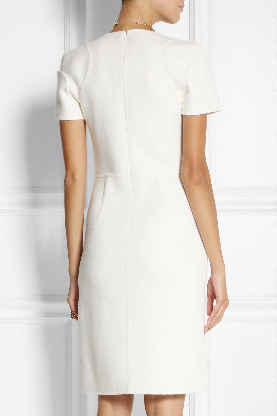 White Paneled Wool Felt Dress Fendi Dresses Fendi Dress Wool Felt Fabric [ 1380 x 920 Pixel ]