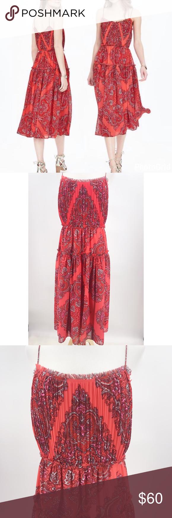 d091469dba Banana Republic Paisley Gathered Maxi Dress