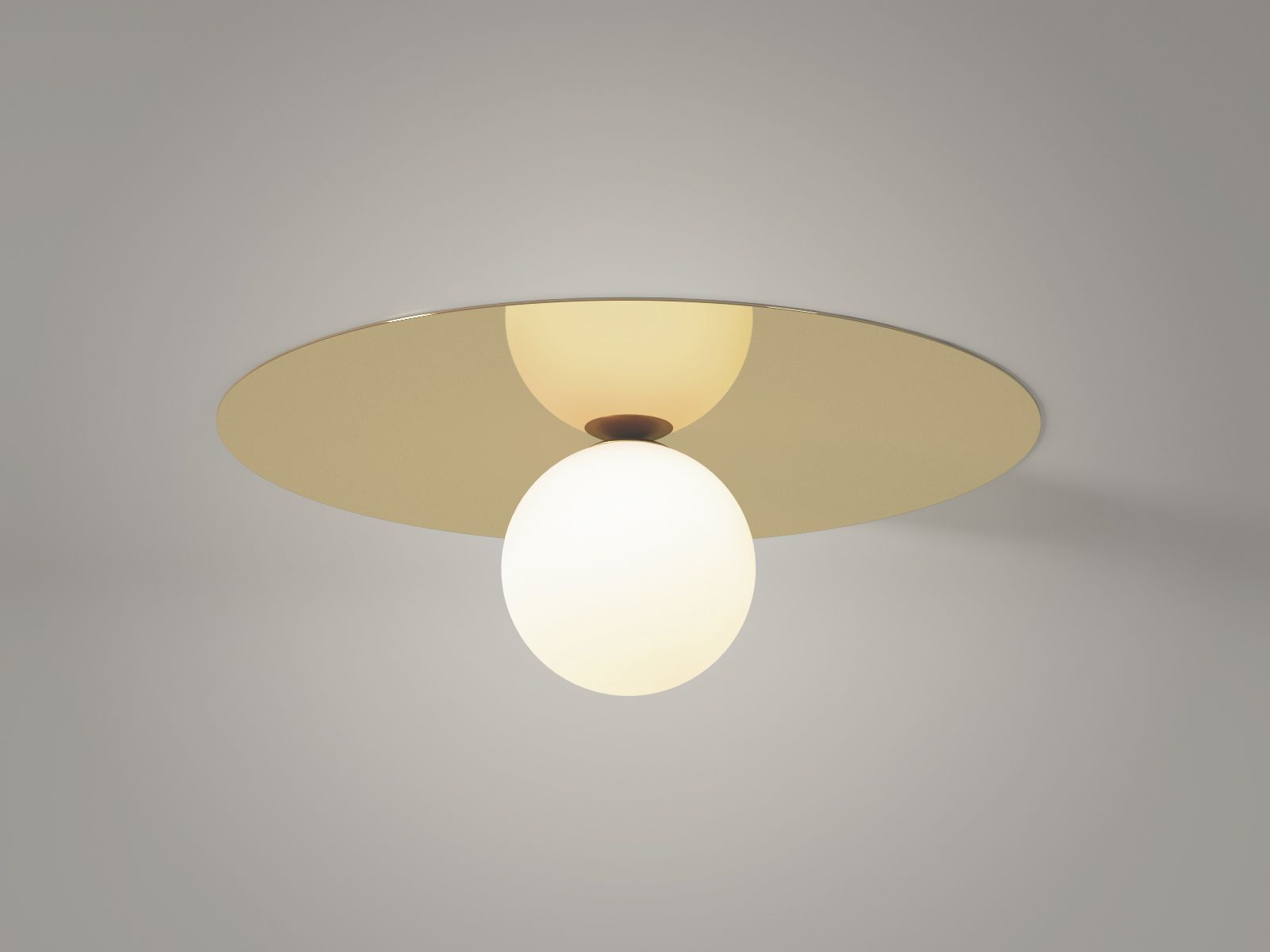 Very cool mid century modern sleek flush mount light Lighting