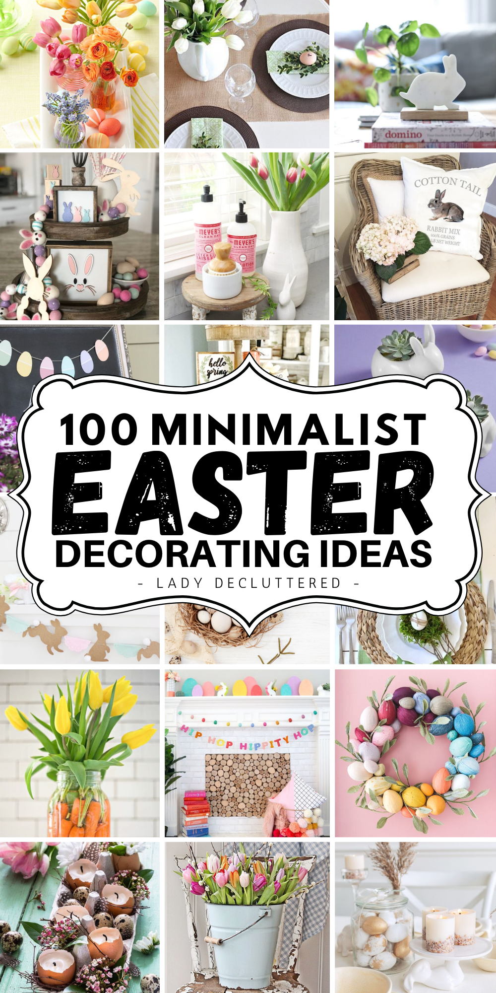 100 Simple Easter Decor Ideas For 2021 Lady Decluttered In 2021 Simple Easter Decor Easy Easter Easter Front Porch Decor
