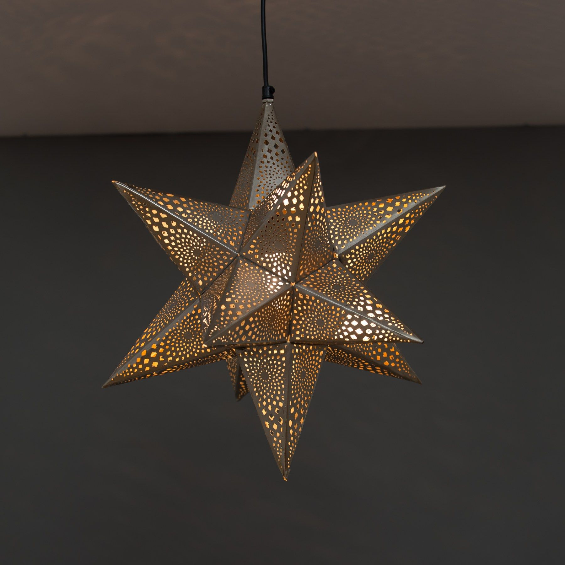 moroccan inspired lighting. Traditional Moroccan Inspired Design Star Shaped Ceiling Light. Hand-painted In A Robust Silver Lighting