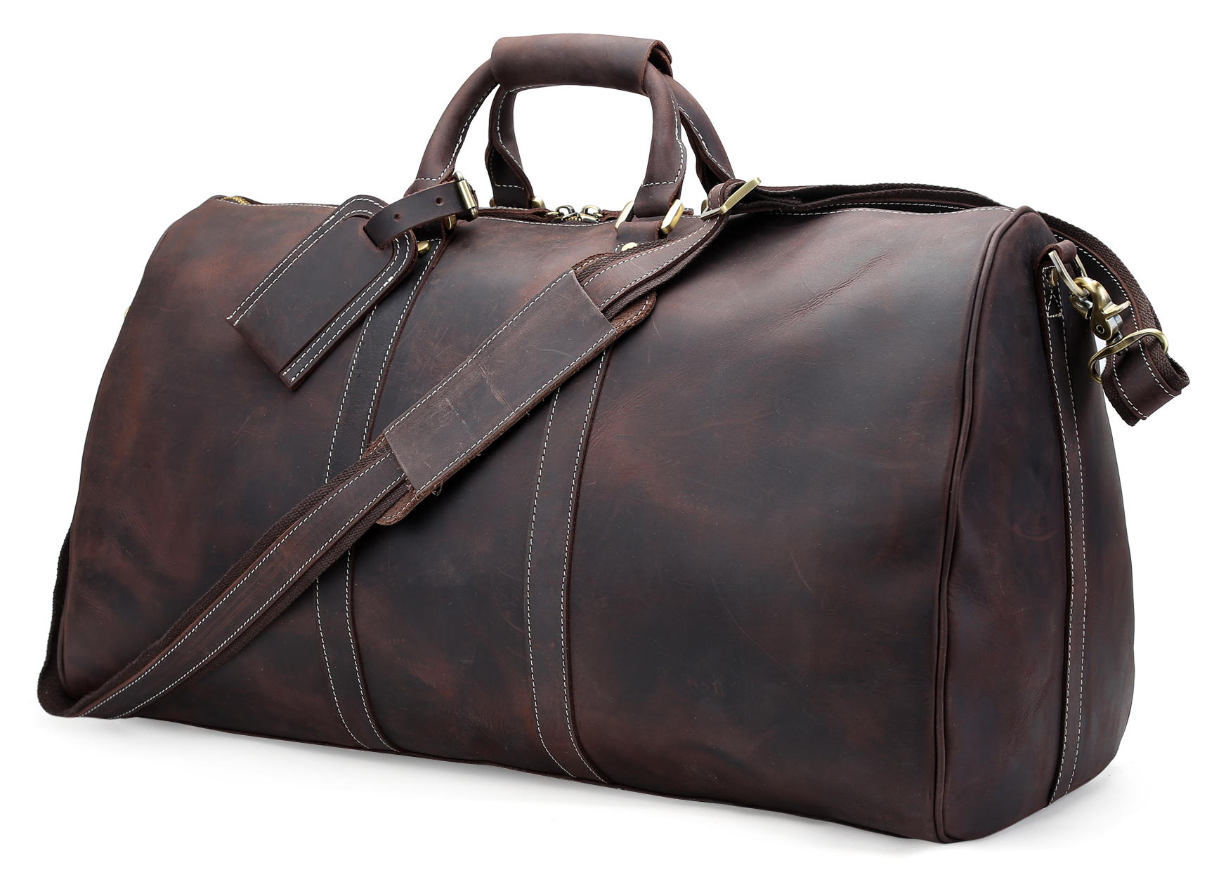 Vintage Crazy Horse Leather Travel Bag Luggage Duffle Bagall Hand Stitched Very Rigorous Luggage Bags Travel Leather Travel Bag Leather Messenger Bag Men