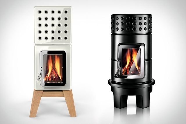 Eco modern stoves battery designed on a modular basis -  This modern interpretation of the classic wood-burning oven is a collaboration between La Castella Monte Adriano and design.