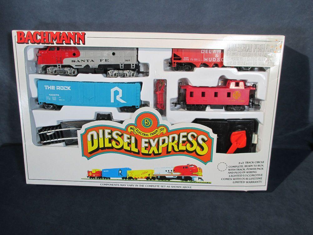 Bachmann Ho Train Set Diesel Express Santa Fe Vtg Toy Never