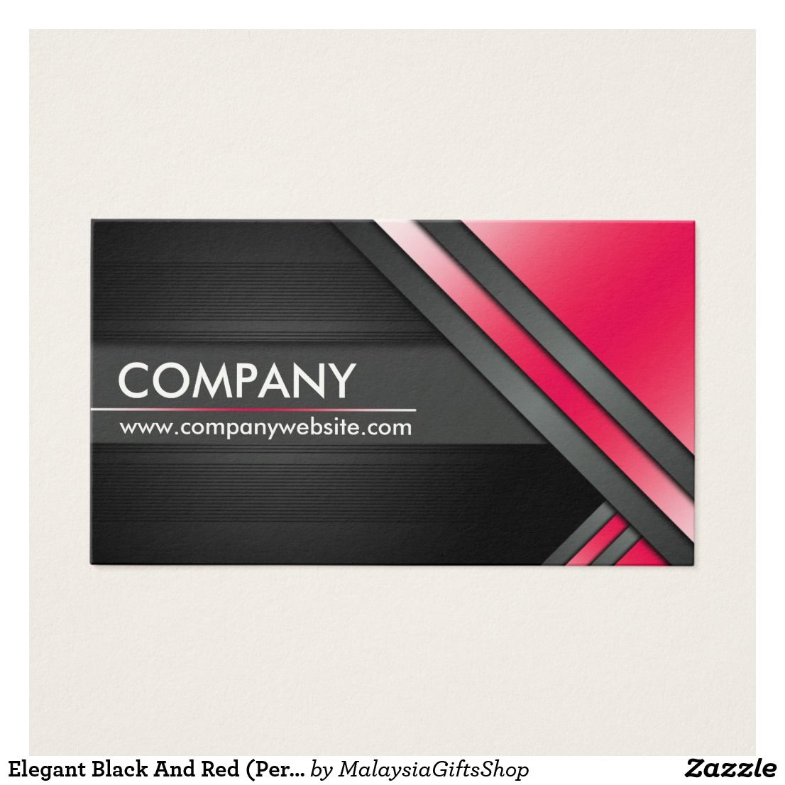 Elegant Black And Red (Personalize) Business Card | Elegant business ...