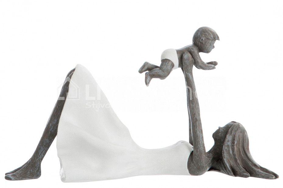 Beeld Moeder En Kind Liggend J Line Livingshop Figurines Jline Beelden Decoration Modernart Schilderijen Ideeen Decoratie Modern