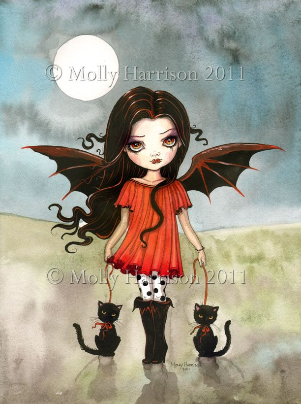 Molly Harrison Fantasy Witch Art, Vampire Art, and Halloween Art Prints