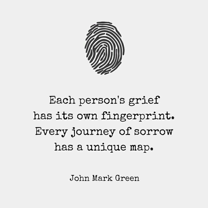 Image result for grief is as individual as a fingerprint