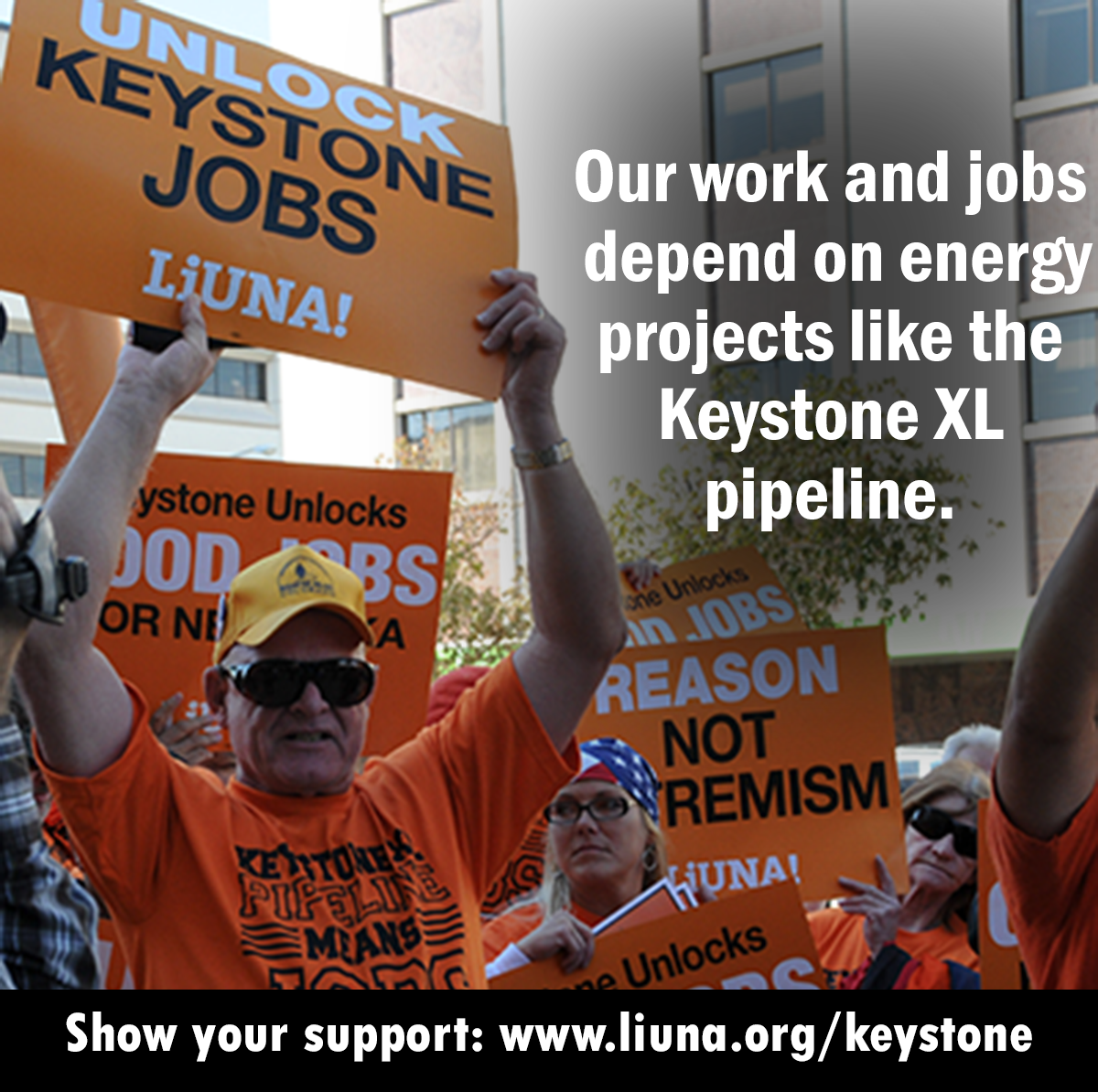 Our Work And Jobs Depend On Energy Projects Like The Keystone Xl Pipeline Show Your Support Energy Projects Keystone Supportive