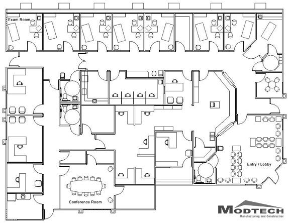 An example of a medical centre floor plan office for Floor plans health care facilities