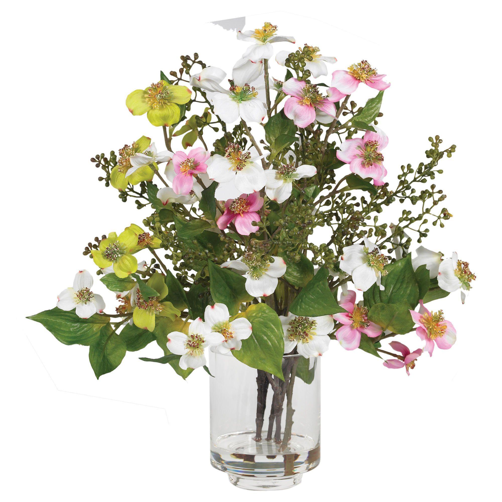 Dogwood Silk Flower Arrangement   Products   Pinterest