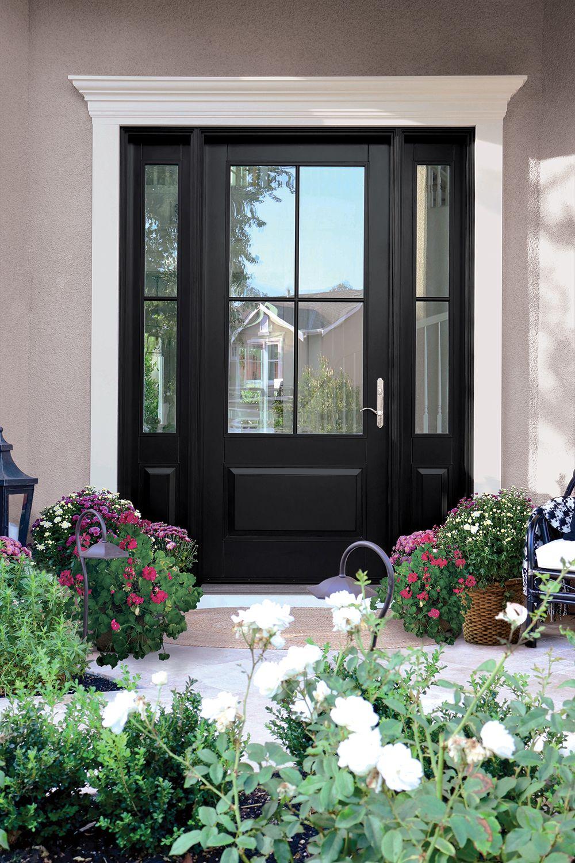 Tricorn Black Color Entry Door Front Door Inspiration Black Exterior Doors Painted Front Doors