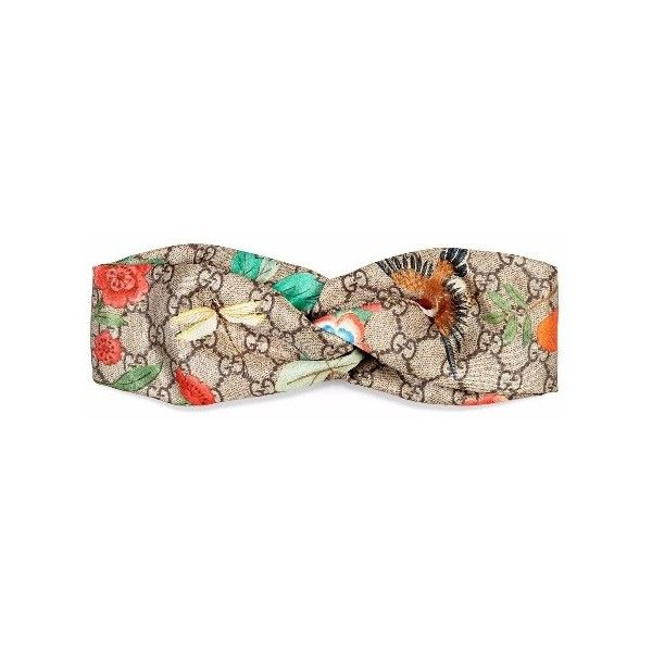 fd472fea6eb Gucci Tian Silk Headband ( 375) ❤ liked on Polyvore featuring accessories