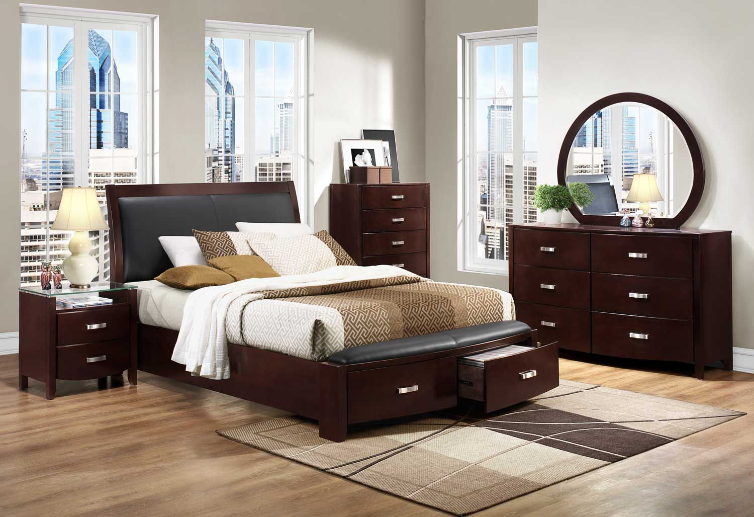Bedroom Furniture Espresso homelegance lyric platform bedroom set - dark espresso $1,931.00
