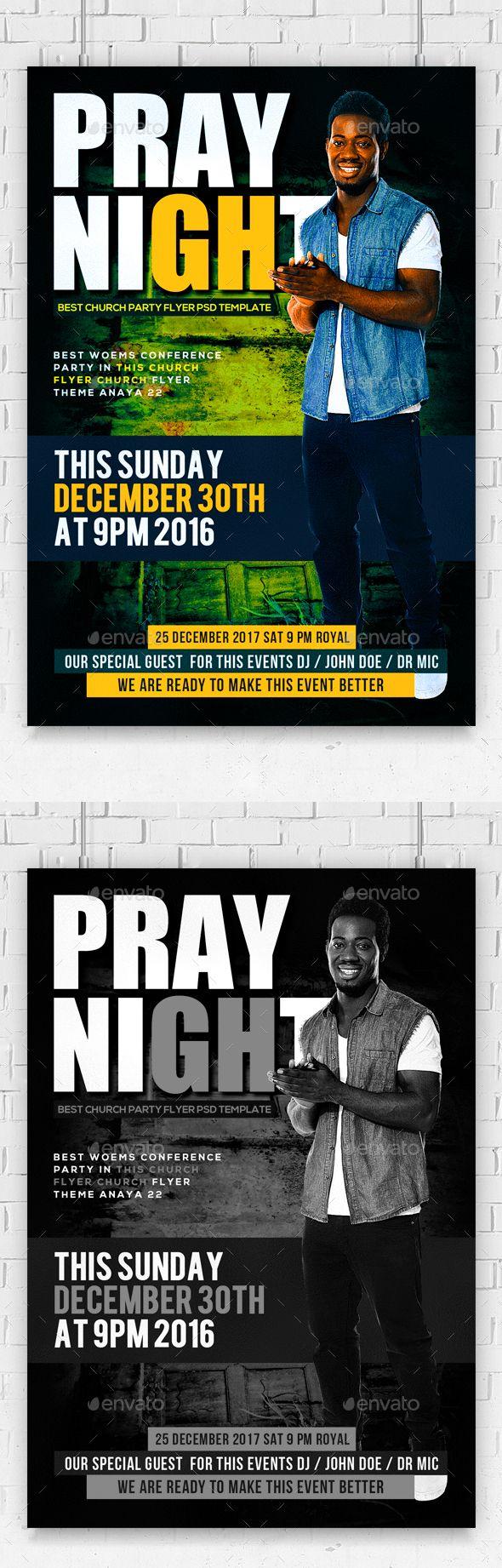 Church special guest flyer erkalnathandedecker prayer night church flyer psd churches font logo and fonts maxwellsz