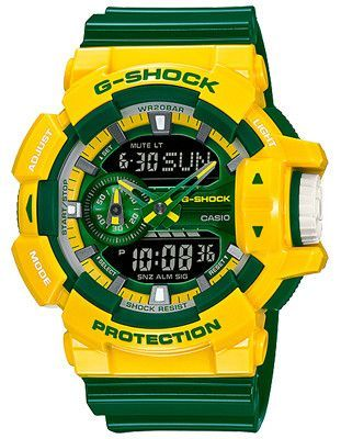 c6fea1cb22d Casio G-Shock Limited Rotary Anti-Magnetic Watch - Yellow   Green - World  Time