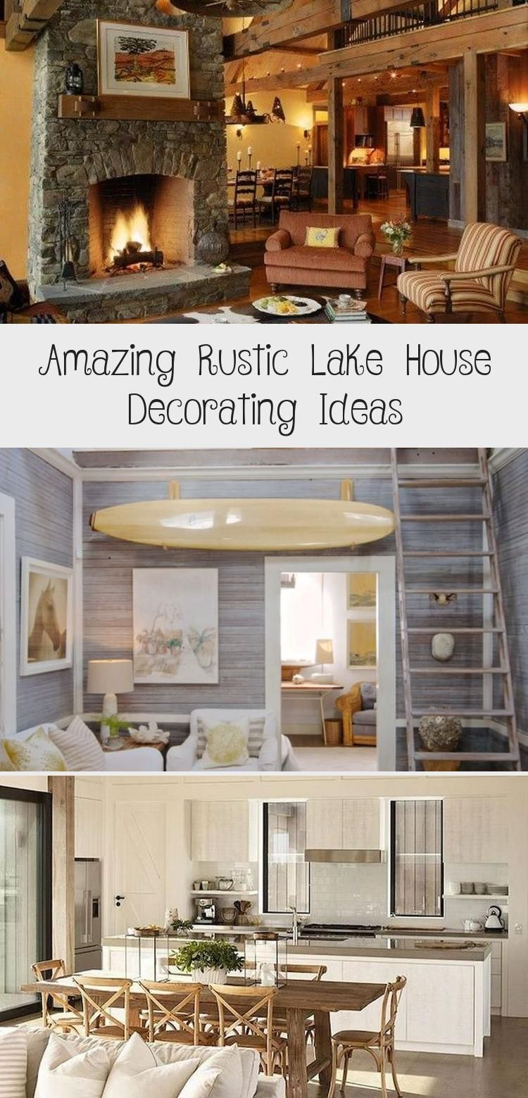 Amazing Rustic Lake House Decorating Ideas In 2020 Rustic Lake