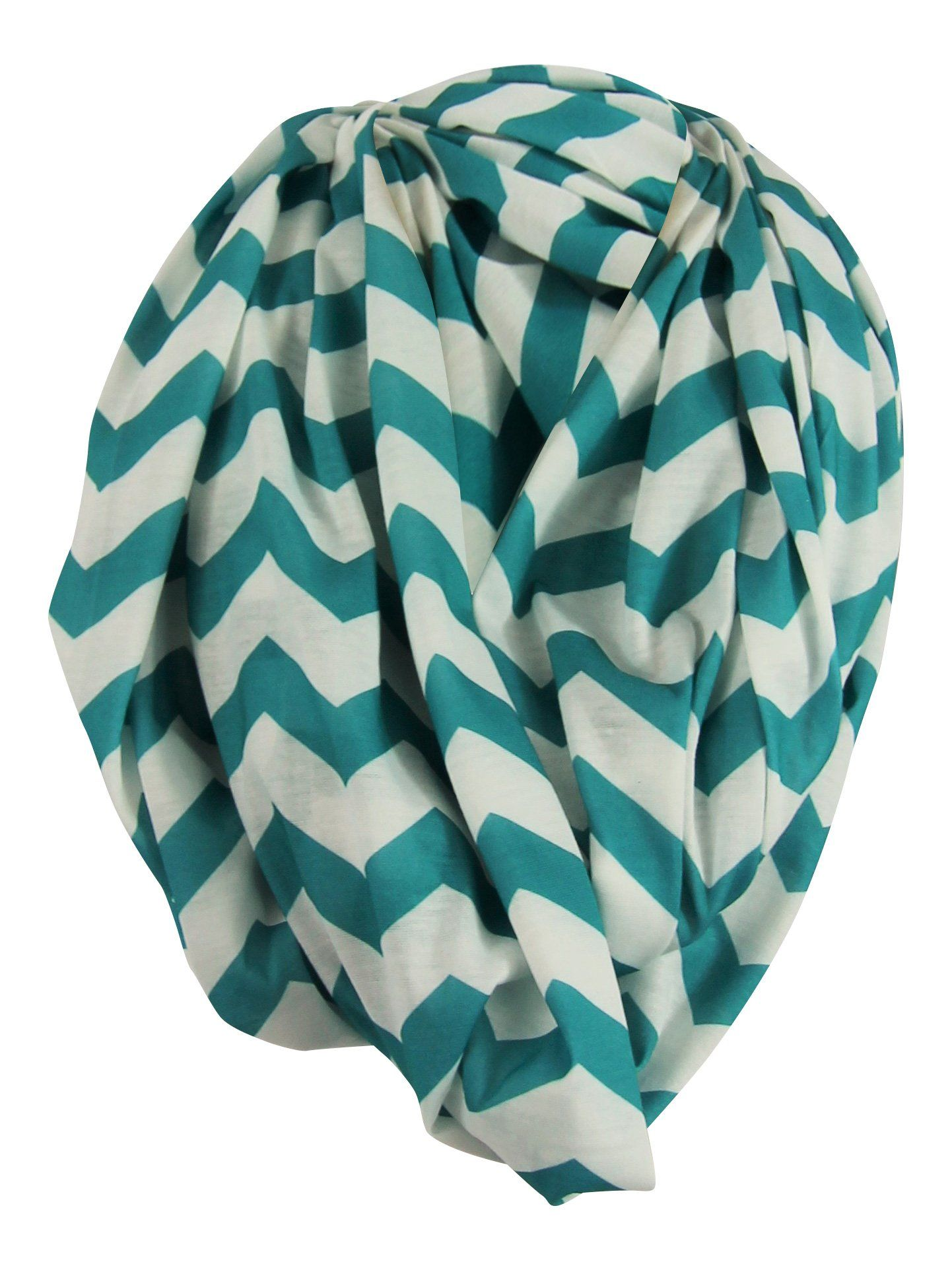 or Blanket Wearable Infinity Nursing Cover for Breast-Feeding Moms by Tykes /& Tails Changing Pad Teal /& White Chevron Pattern Burp Cloth Multi-Use as Scarf